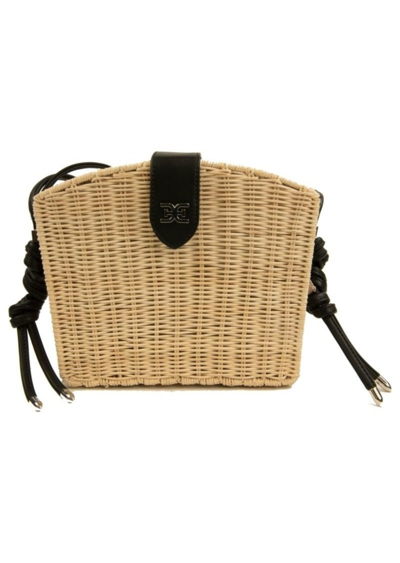 Layla Straw Basket Shoulder Bag