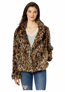 Sam Edelman Leopard Short Chubby Coat