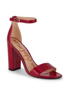 Sam Edelman Yaro Patent Block-Heel Sandals