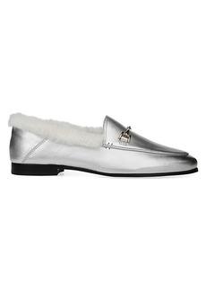 Sam Edelman Loraine Faux-Fur Leather Loafers