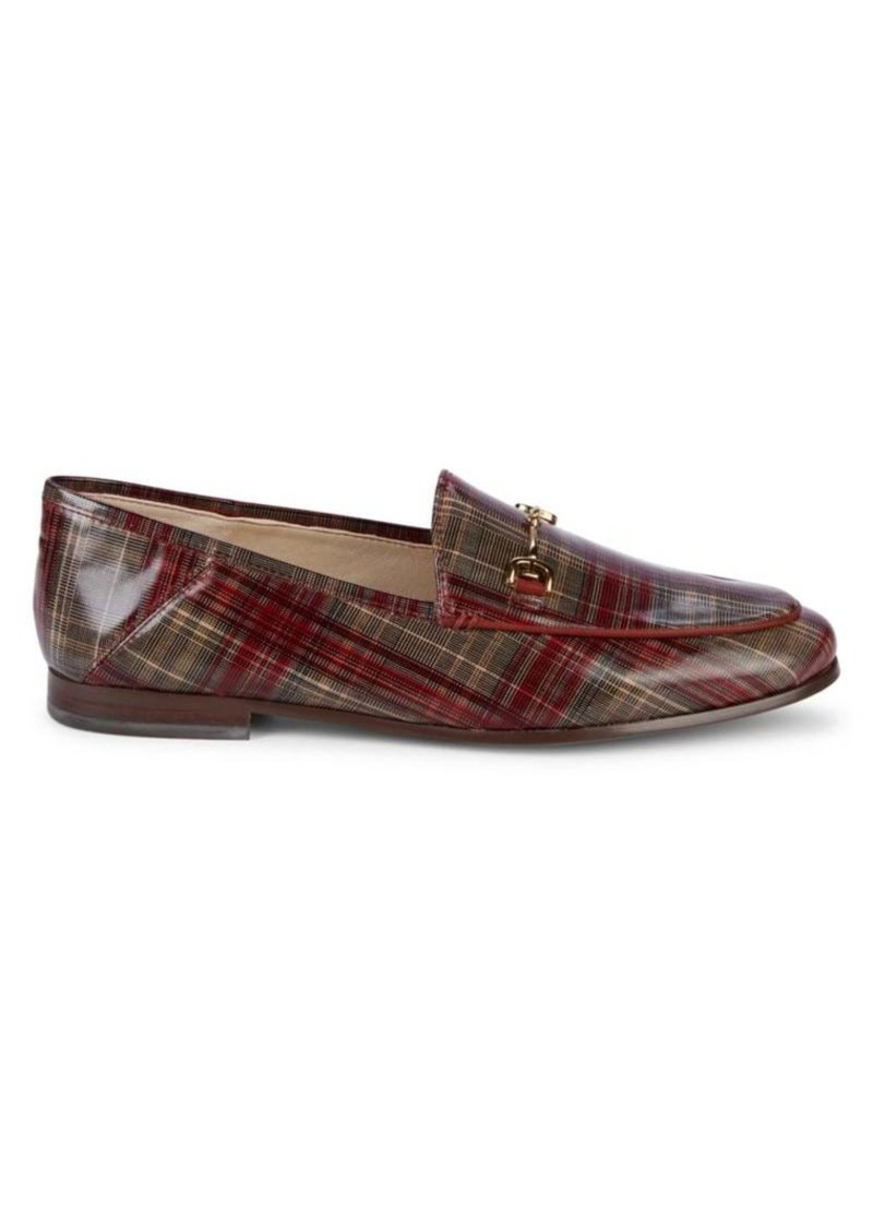 Sam Edelman Loraine Plaid-Print Leather Loafers