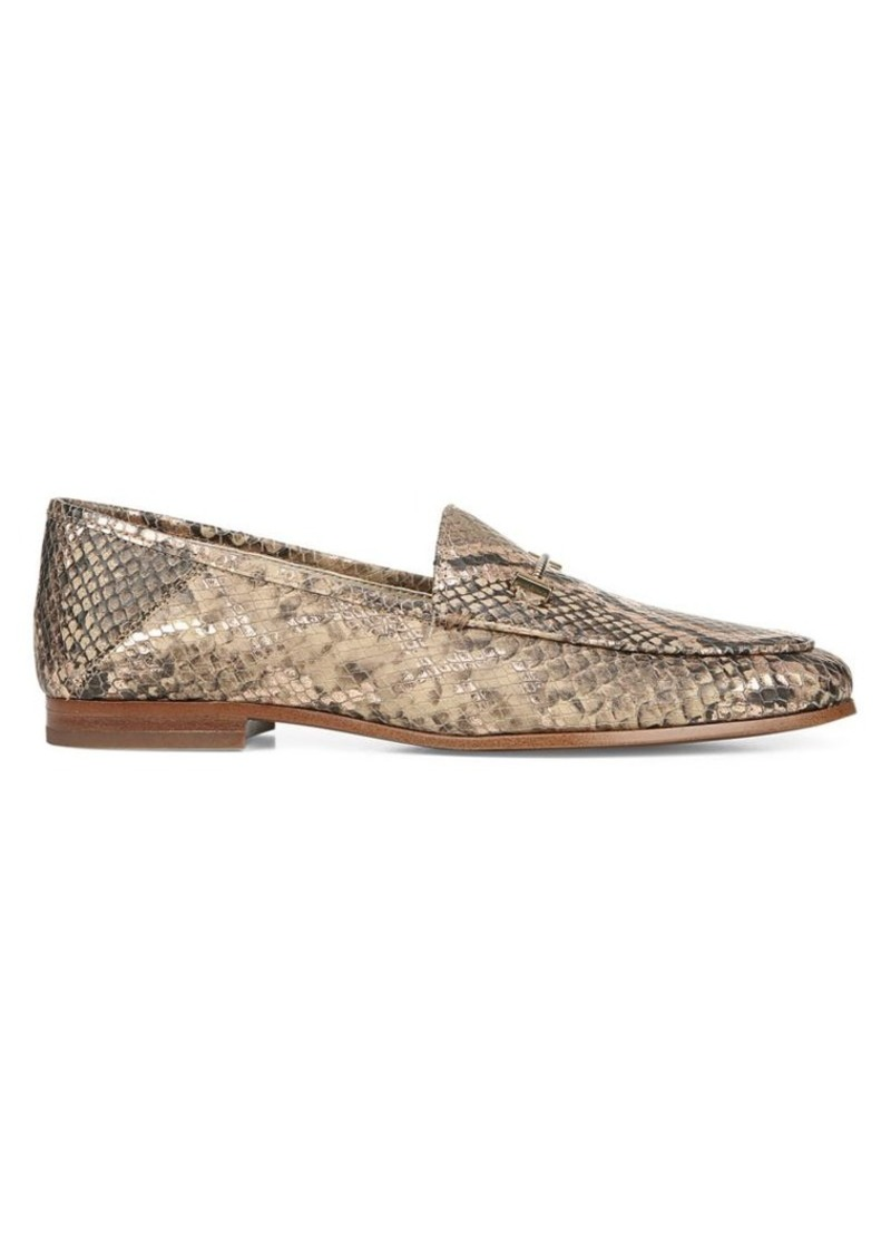 Sam Edelman Loraine Snake Print Leather Horsebit Loafers