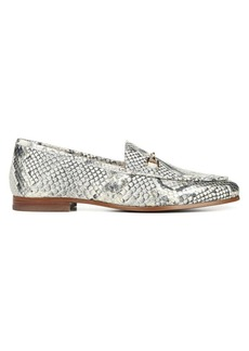 Sam Edelman Loraine Snake-Print Leather Loafers