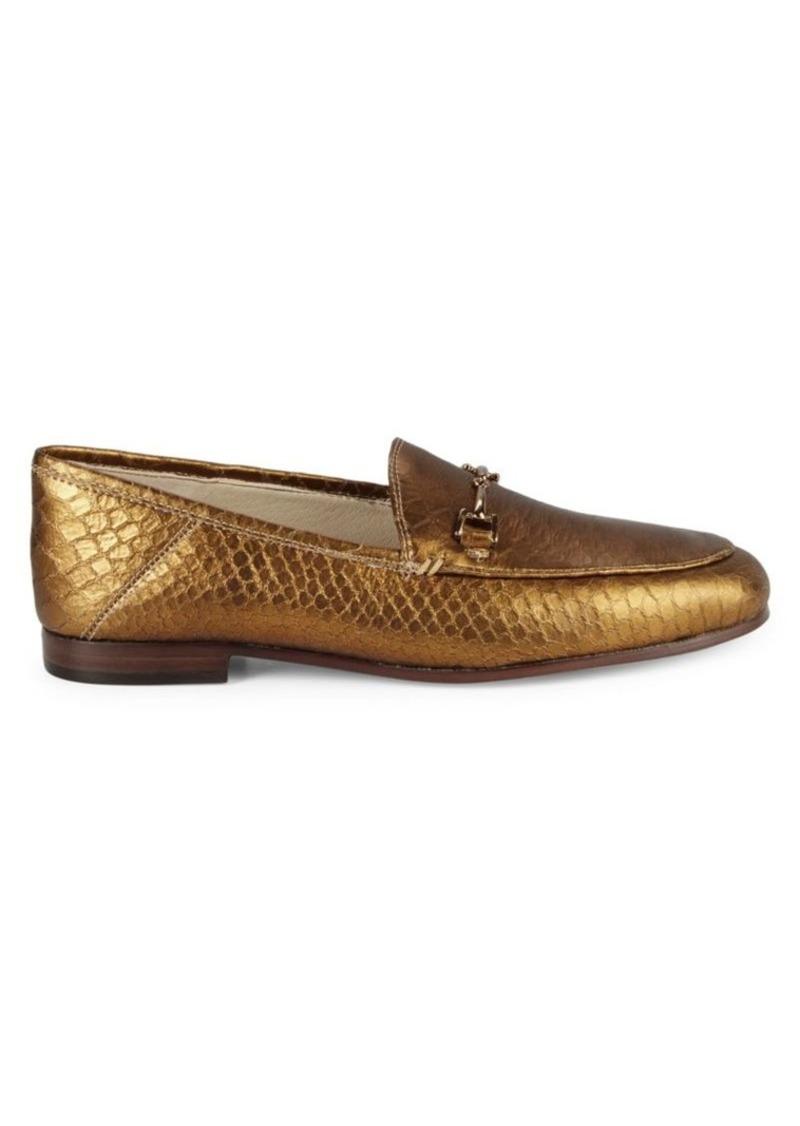 Loraine Snakeskin Embossed Leather Loafers