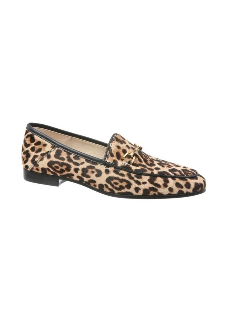 Sam Edelman Lorraine Leopard Print Calf Hair Loafers