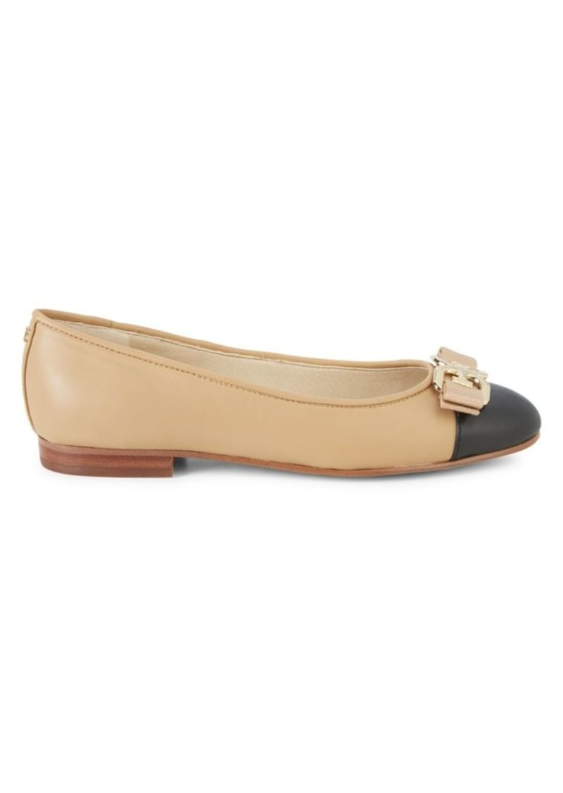 Sam Edelman Mage Leather Mini Stacked-Heel Flats