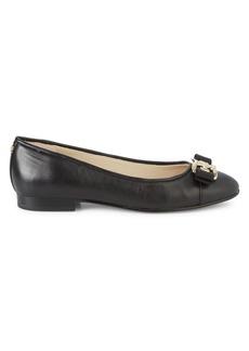 Sam Edelman Mage Leather Mini Stacked-Heel Flats