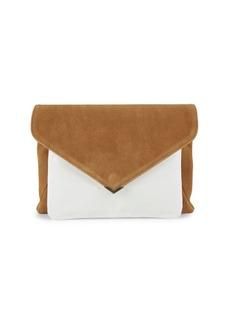 Sam Edelman Mila Suede & Patent Leather Envelope Clutch