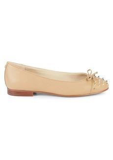 Sam Edelman Mirna Studded Leather Ballerina Flats