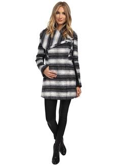 Sam Edelman Novelty Wool Asymmetrical Clip Coat