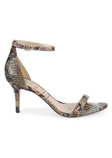 Sam Edelman Patti Stiletto Snakeskin Leather Sandals
