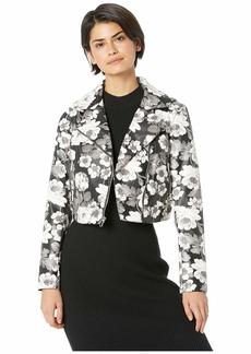Sam Edelman PU Floral Moto Jacket