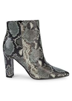 Sam Edelman Raelle Snake-Print Leather Booties