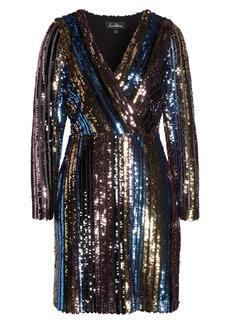 Sam Edelman Rainbow Metallic Faux Wrap Dress