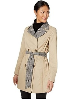 Sam Edelman Reversible Solid/Plaid Trench