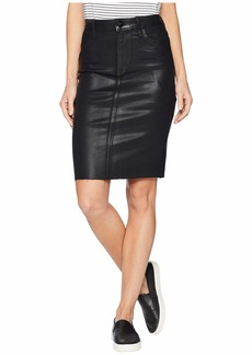 Sam Edelman Riley Skirt in Jet Black Coated