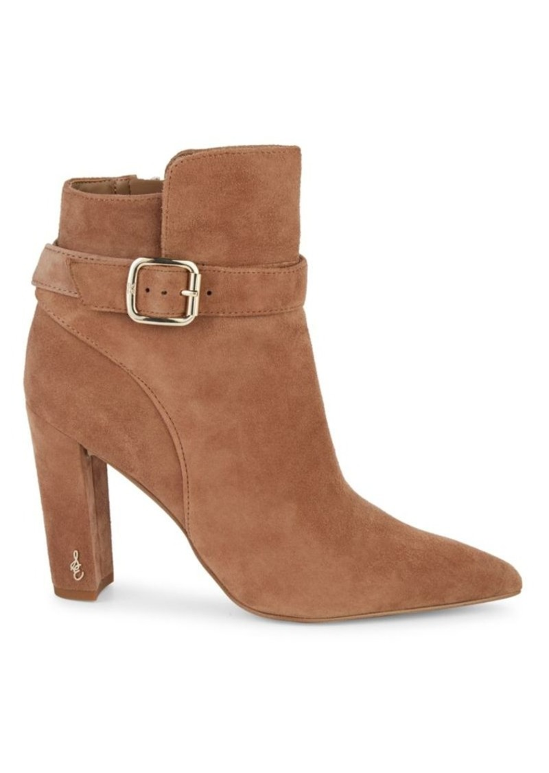 Sam Edelman Rita Suede Point-Toe Booties