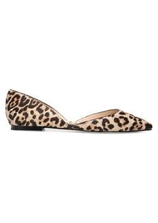 Sam Edelman Rodney Leopard Print Calf Hair d'Orsay Flats