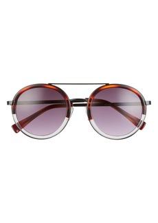 Sam Edelman 51mm Gradient Round Aviator Sunglasses