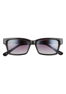 Sam Edelman 53mm Gradient Rectangle Sunglasses