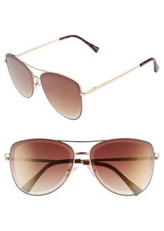 Sam Edelman 53mm Aviator Sunglasses