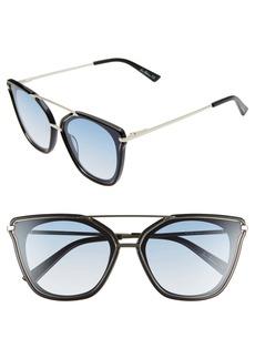 Sam Edelman 62mm Oversize Gradient Cat Eye Sunglasses