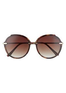 Sam Edelman 63mm Gradient Oversize Round Sunglasses