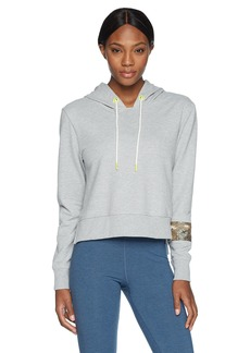 Sam Edelman Active Women's Cropped Hoodie With Sequin Band