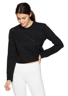 Sam Edelman Active Women's Cropped Sweatshirt with Holes  XS