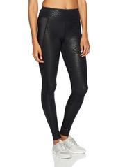 Sam Edelman Active Women's Printed Eliptical Seam Legging Black  L