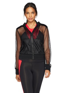 Sam Edelman Active Women's Velvet Mesh Jacket  L
