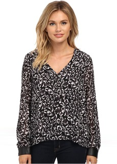 Sam Edelman Alexis V-Neck Double Layer Blouse