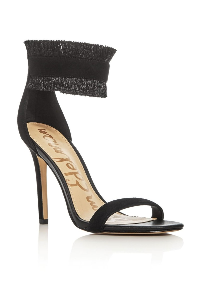 7b55b5bf553 Sam Edelman Sam Edelman Anabeth Fringe Ankle Strap High Heel Sandals ...