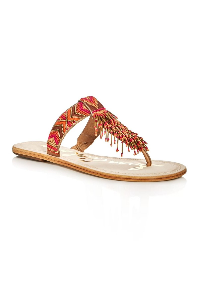 3b6abc279907bd Sam Edelman Sam Edelman Anella Beaded Thong Sandals