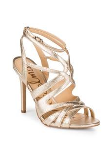 Sam Edelman Aviana Metallic Strappy Leather Sandals