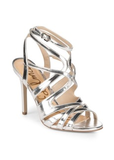 Sam Edelman Avianna Metallic Strappy Stiletto Sandals