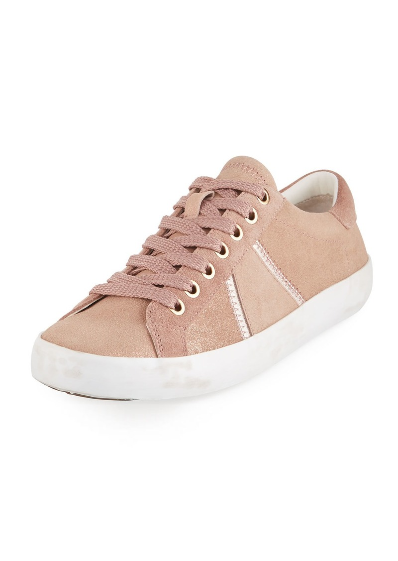 8dbaba66cef0 Sam Edelman Baylee Shimmer Suede Sneakers Now  48.00