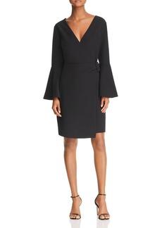 Sam Edelman Bell-Sleeve Crossover Dress