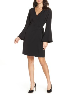 Sam Edelman Bell Sleeve Faux Wrap Dress