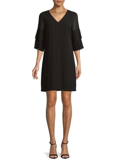 Sam Edelman Bell-Sleeve Shift Dress