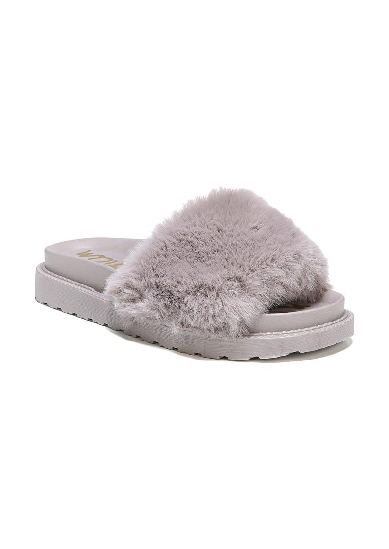 Sam Edelman Blaire Faux Fur Platform Slide Sandal (Women)
