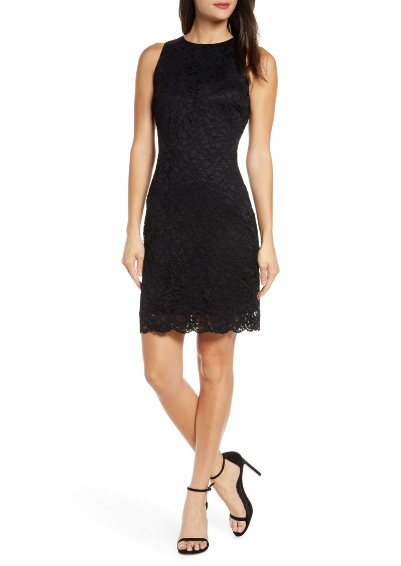 Sam Edelman Bow Back Lace Sheath Dress