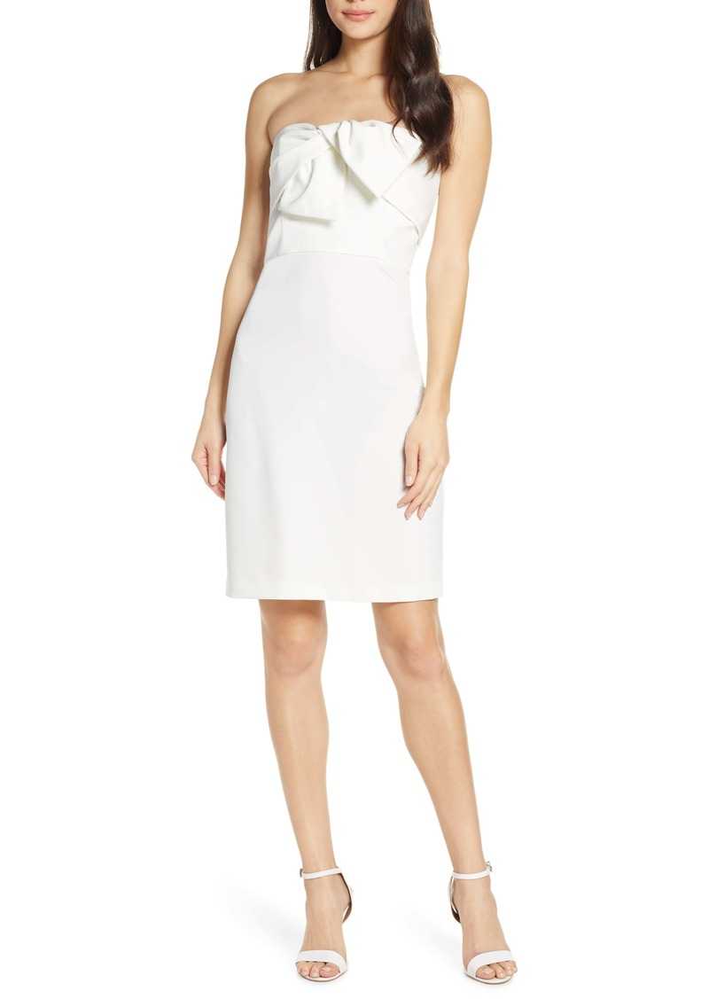 Sam Edelman Bow Front Strapless Sheath Dress