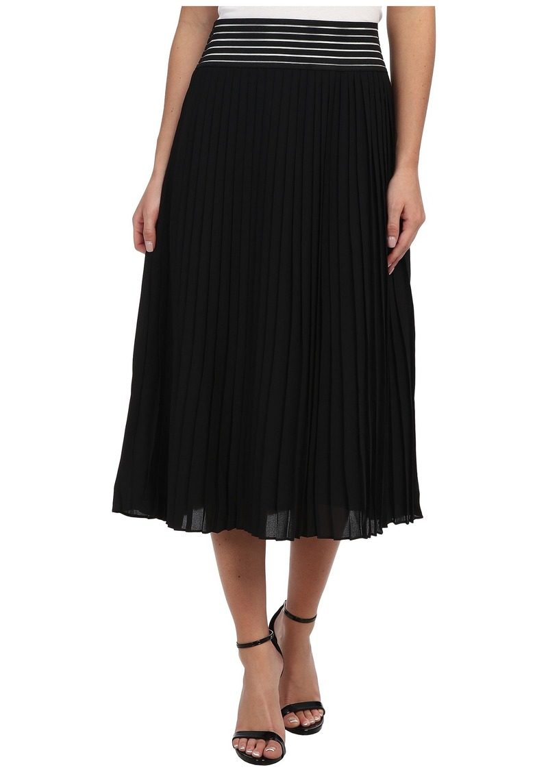 Sam Edelman Chiffon Pleated Skirt w/ Cutout