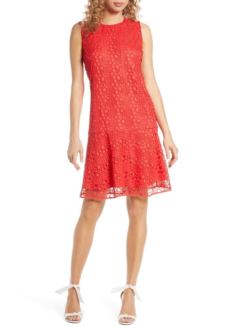 Sam Edelman Circle Lace Drop Waist Dress