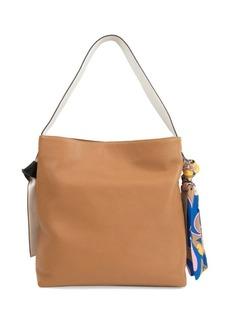 Sam Edelman Cleo Scarf Leather Hobo Bag