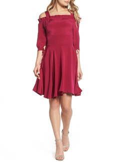 Sam Edelman Cold Shoulder A-Line Dress