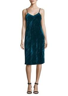 Sam Edelman Crushed Velvet Slip Dress