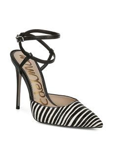 Sam Edelman Deana Genuine Calf Hair Ankle Strap Pump (Women)