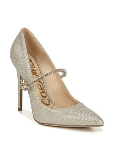 Sam Edelman Debrah Crystal Mary Jane Pointed Toe Pump (Women)